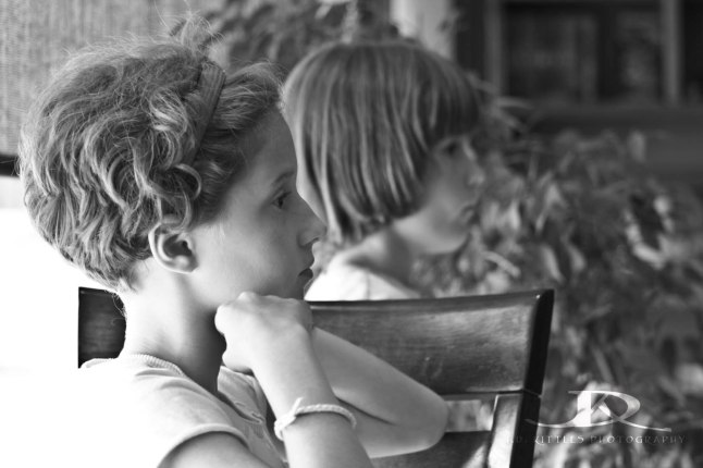 Girls observing quietly at the local cafe. Photo taken by J.D. Kittles Photography, used with permission.