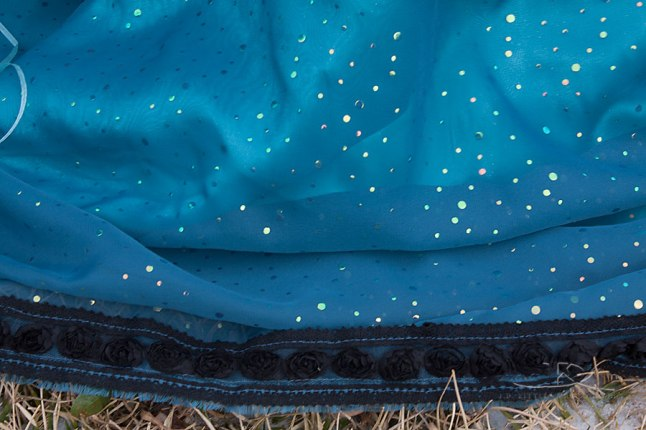 Bottom edge of skirt, photo by J.D. Kittles Photography, used with permission.