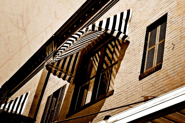 Striped awning photo by J.D. Kittles Photography ~ used with permission