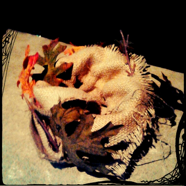 ~ the burlap bird's nest I created for Starshine's tree costume ~