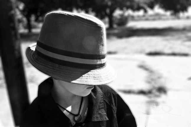 ~Child in a fedora ~ Photo by J.D. Kittles Photography ~ used with permission ~
