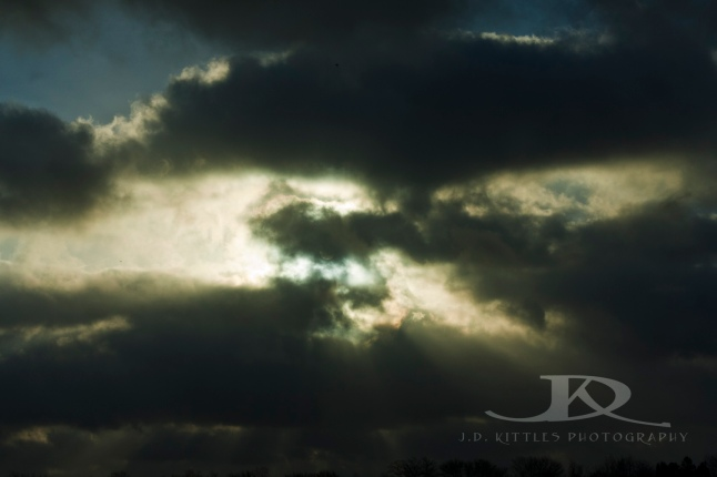 ~ Sun coming through the clouds ~ Photo by J.D. Kittles Photography ~ used with permission ~ To see more of his awesome photography, just click the photo!