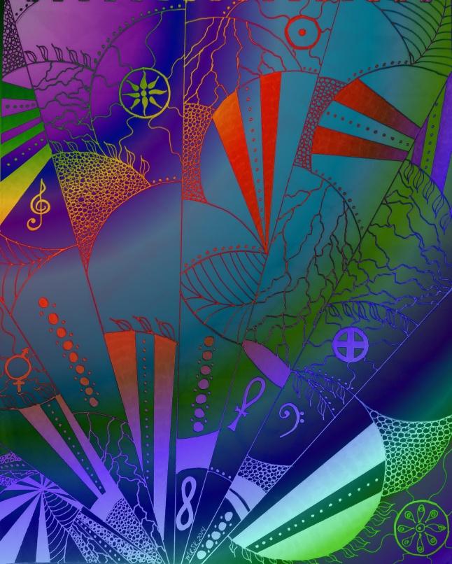 """Web of Life"" - mixed media artwork by Melody Kittles"